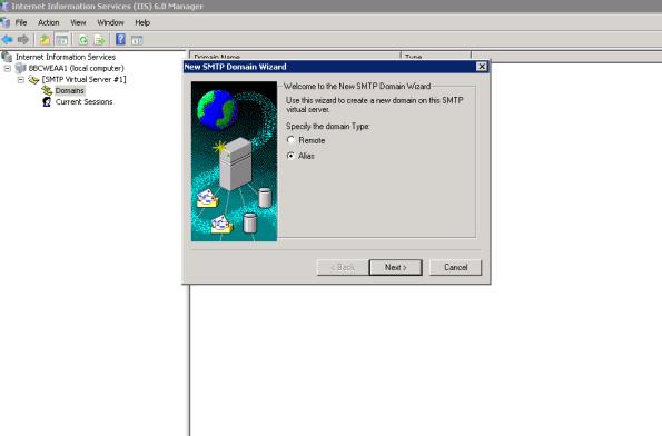 SMTP Alias Setup